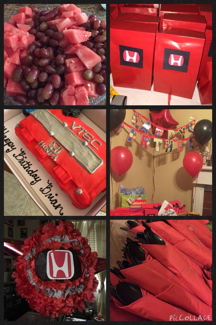 Honda Birthday Party Theme Honda Themed Party
