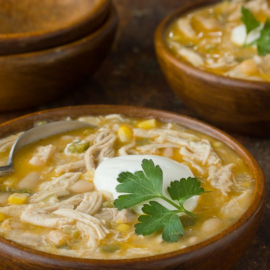 White Chicken Chili – So good on this cold day. I was afraid it would be too spicy but after all the cooking it mellowed out a