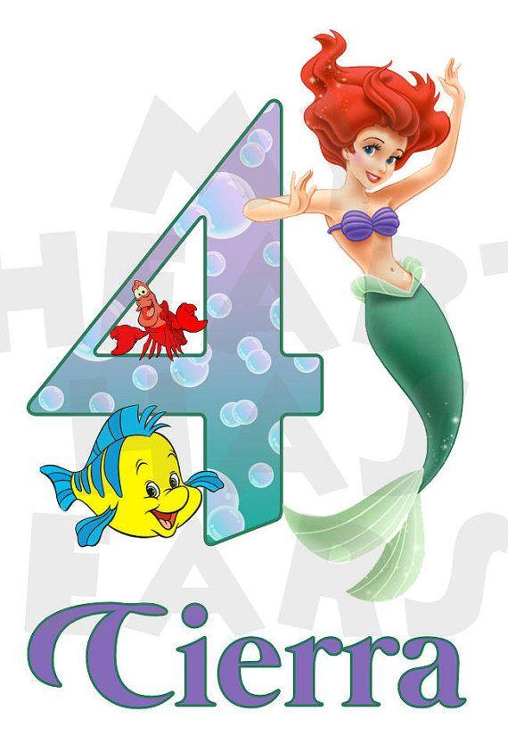 Ariel The Little Mermaid Printable Diy Birthday Any Name