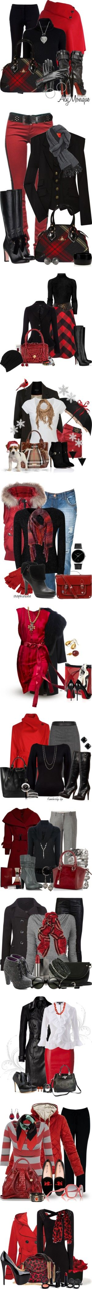 """""""Red and Black Contest"""" by jackie22  liked on Polyvore"""