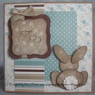 Paper Punch Addiction: Bunny Behind card
