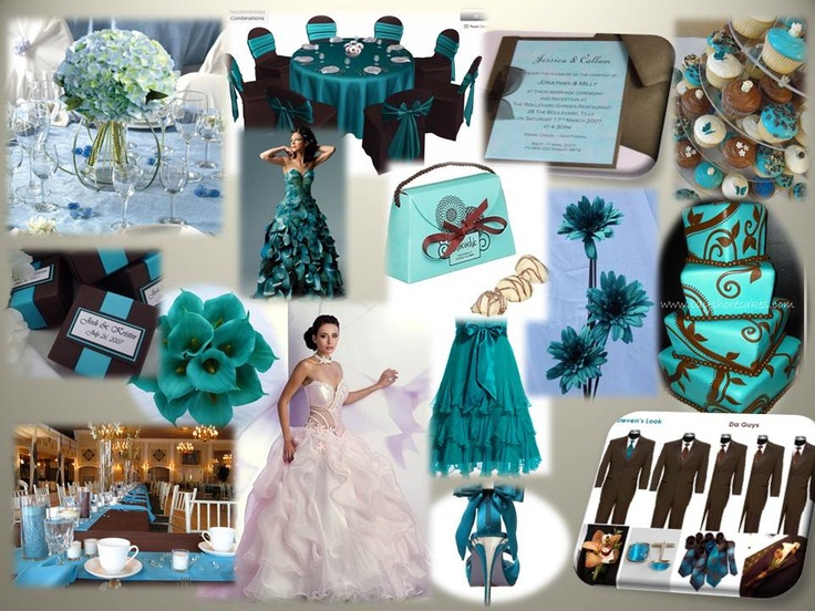 Chocolate & Teal Wedding Theme
