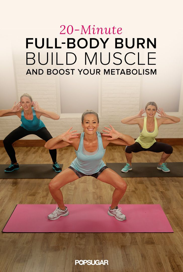 This 20-minute workout keeps you moving to burn calories with bursts of strength training to build lean muscle. Do before you