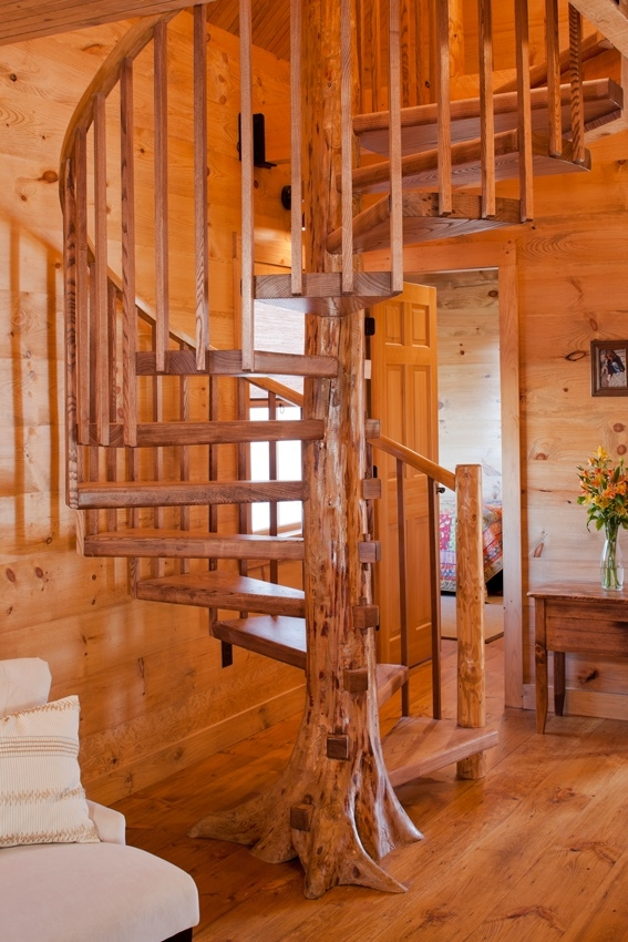 17 Best Images About Staircase Remodel Ideas On Pinterest Log Homes Stairs And Log Cabin Kitchens | Spiral Staircase Tree Trunk
