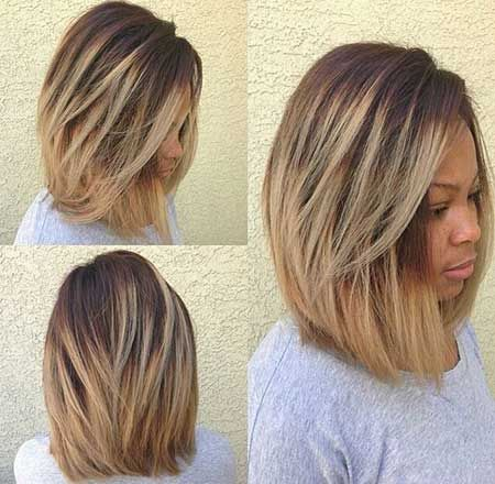 Quick to Medium Size Layered Hairstyle Found on: Twenty Quick Bob Hairstyles For Black Females | Hairstyles