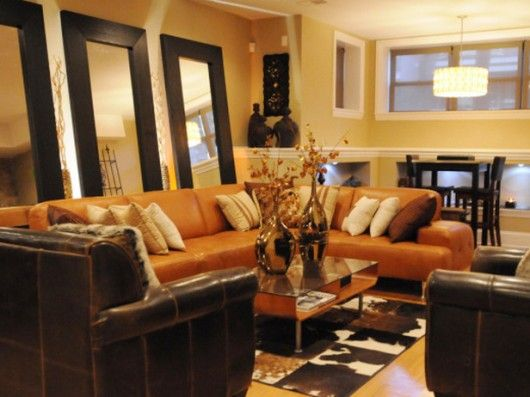 a comfortable lounge living room with a warm inviting on color schemes for living room id=17951