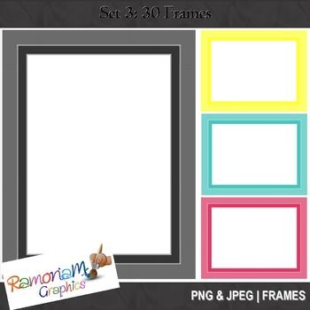 30 png and jpeg digital frames | Frames