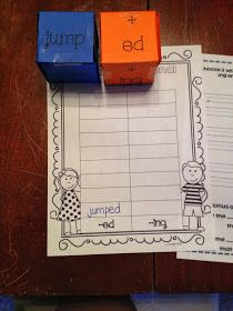 First Grade and Flip Flops: Inflectional endings– A quick center for you!