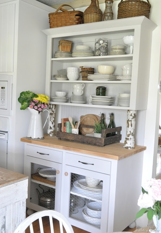15 best images about small kitchen hutch on pinterest cabinet space built in hutch and glass on farmhouse kitchen hutch id=34279