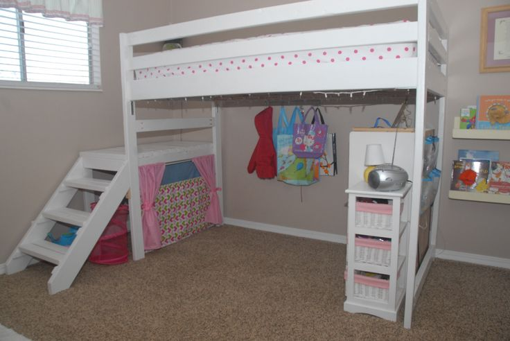 DIY Twin Loft Bed...for Under $100!