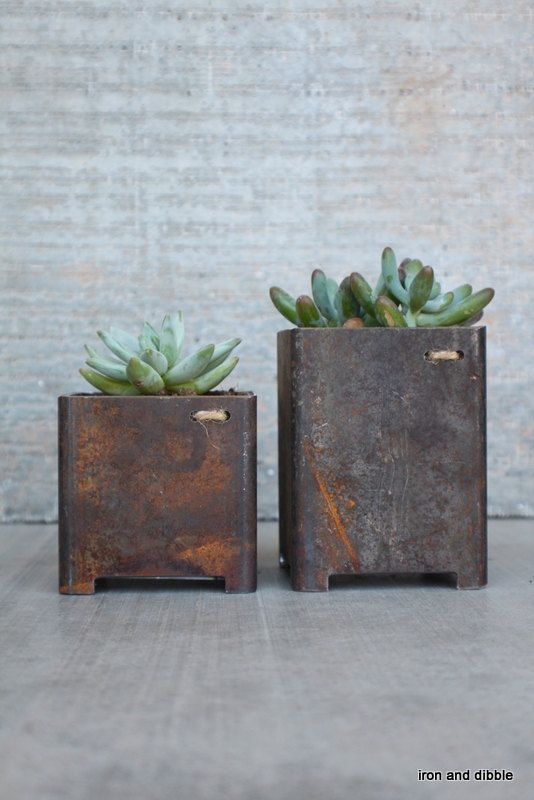 Best 25 Metal Planters Ideas On Pinterest