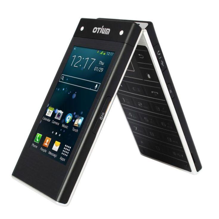 3g dual touch screen smart mobile flip phone otium 2015