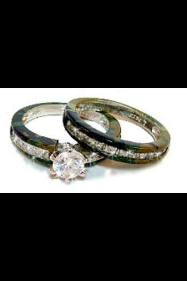Country Girl Wedding Camo Rings What I Like