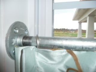 Inside Mount Galvanized Pipe Cafe Curtain Rod Cool Window Treatments Pinterest