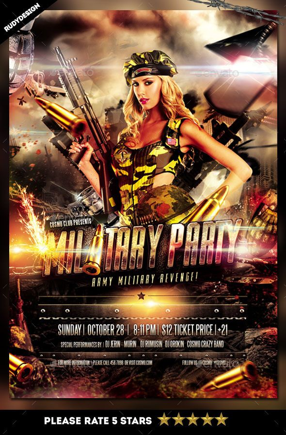 Army Military Flyer Template Design Flyers Flyer