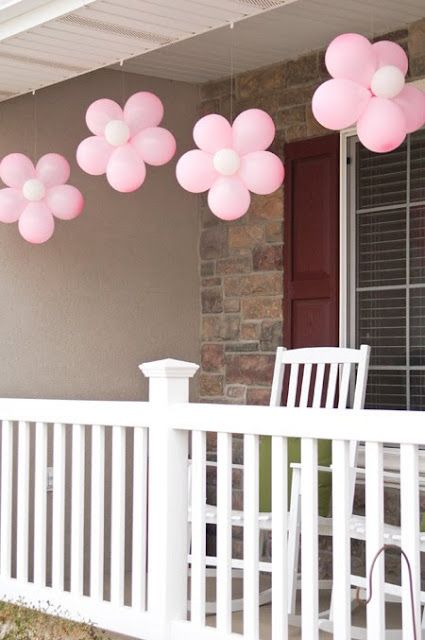 cute balloon idea. I can make these if you want this for your next girl party, bridal shower, baby shower, candle