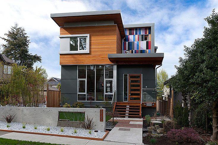Mmodern Home W/ Cedar Siding & Fibre-cement Exterior