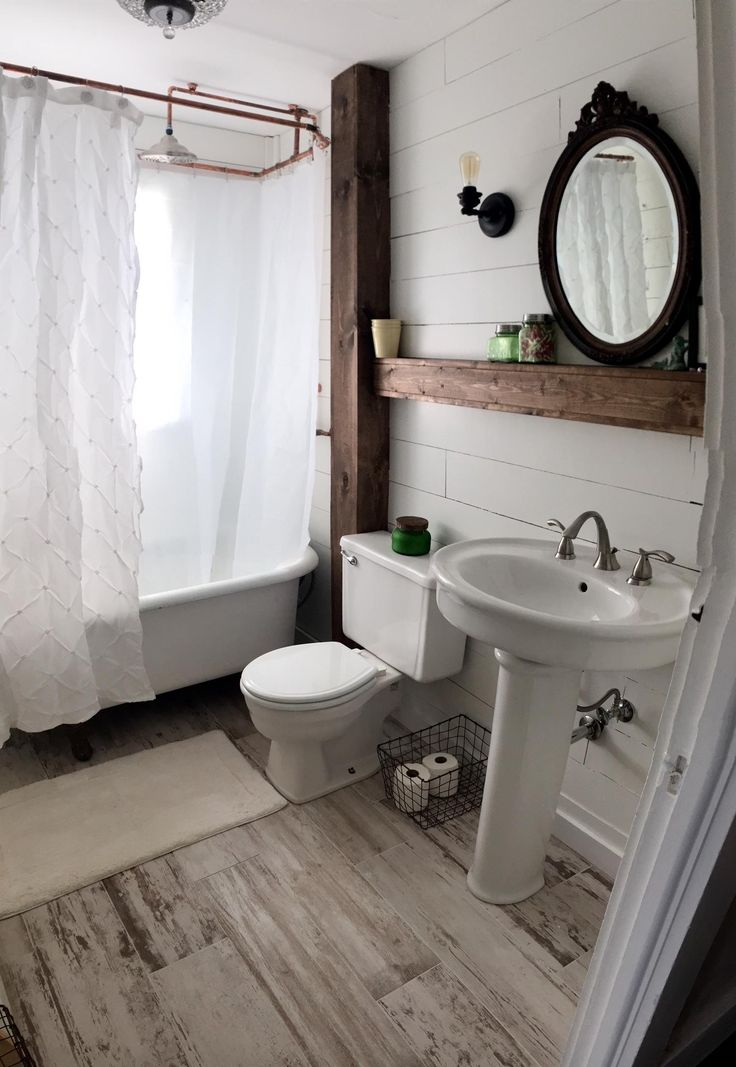 148 best images about black and white tile bathroom on ... on Rustic Farmhouse Bathroom Tile  id=94043