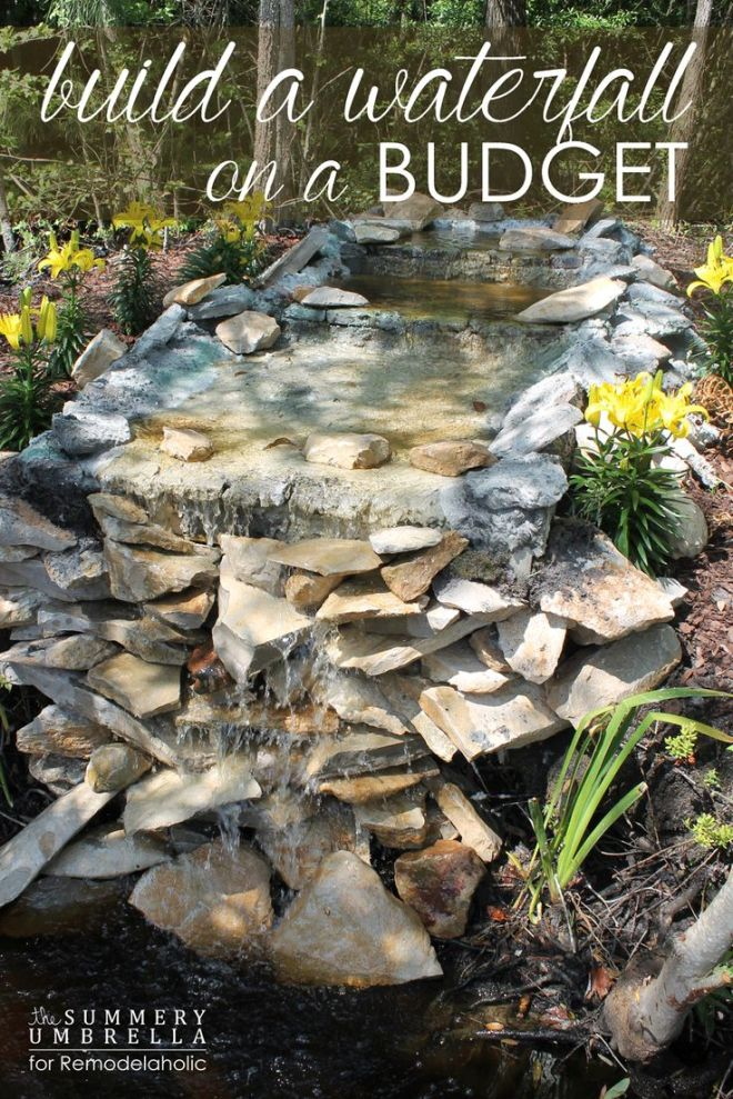 Build a waterfall on a budget that you will love dont