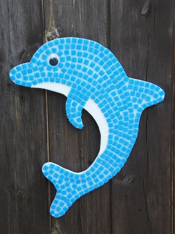 Dolphin Mosaic Kit Party Ideas Pinterest Swimming