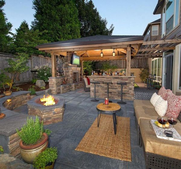 outdoor living patio ideas 25+ best ideas about Backyard patio designs on Pinterest