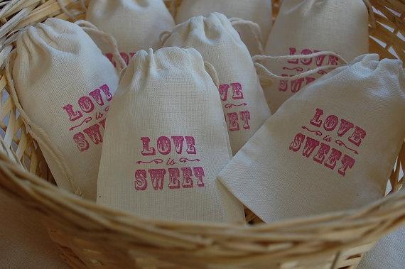 "Favor Bag Ideas -""Love Is Sweet"" Www.MadamPaloozaEmporium"