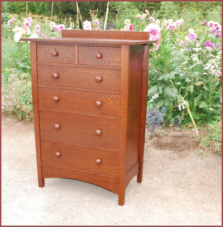 Gustav Stickley Harvey Ellis Style Custom Highboy Dresser