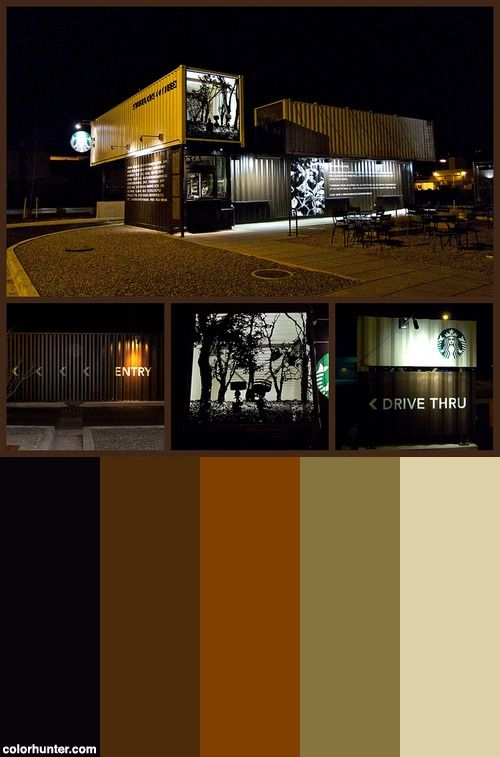 Starbucks Color Scheme Colors Pinterest Colors
