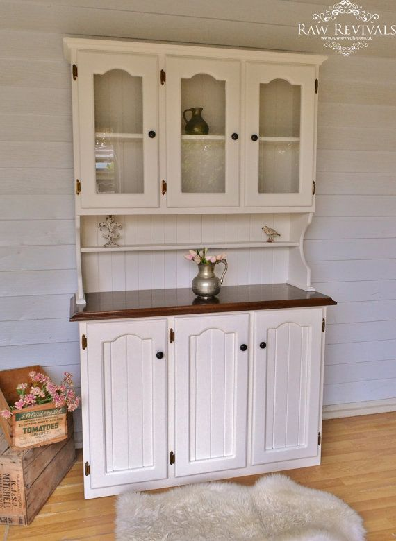 White And Dark Wood Dresser