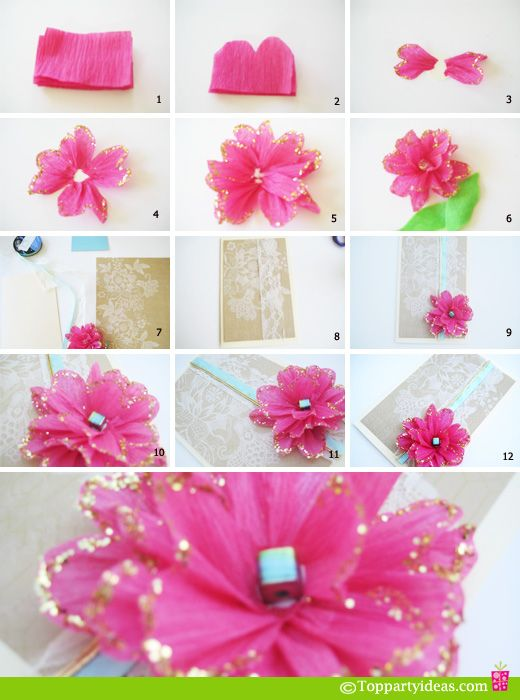 Diy Tissue Paper Flower You Could Put It On Birthday