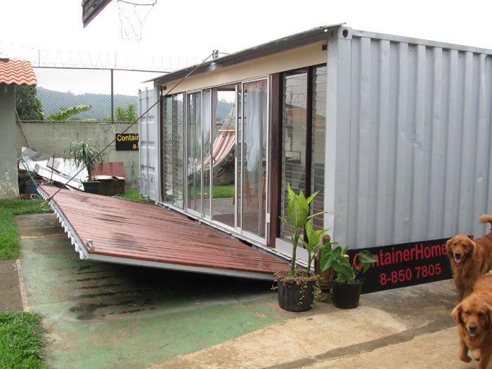 20 Drop Down Deck Idea Container Homes Pinterest