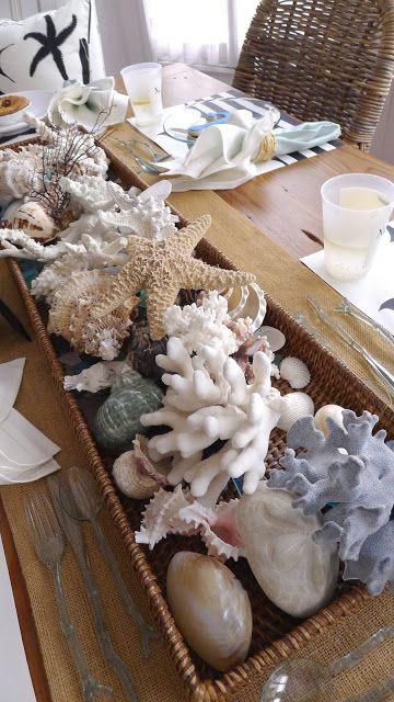 a basket full of seashells
