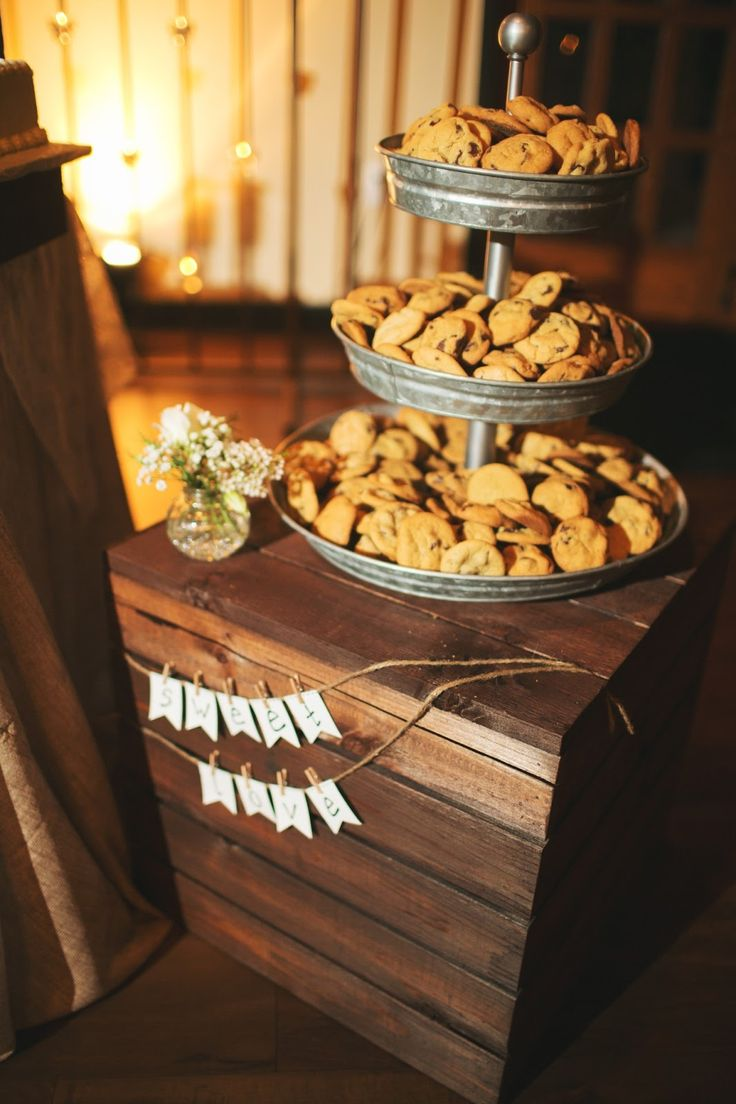 Brides Moms Chocolate Chip Cookies PB Tiered Stand