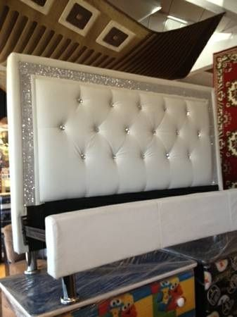 White Leather Tufted Diamond Headboard Jazz Bedroom