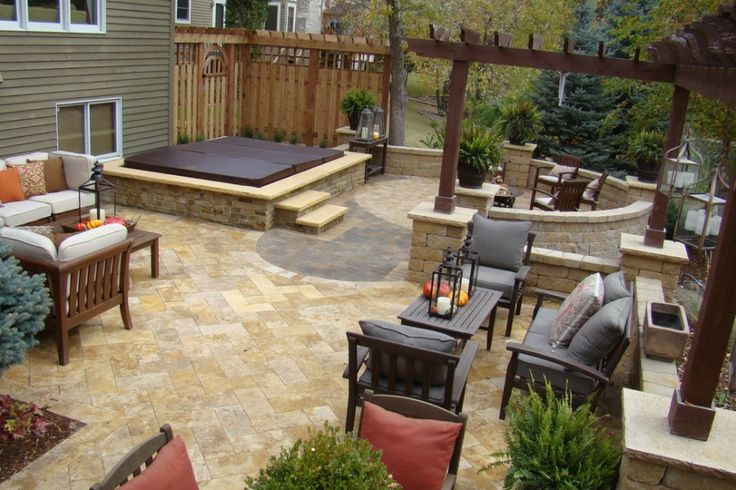 Covered Hot Tub With Fire Pit Designs Designs With Hot