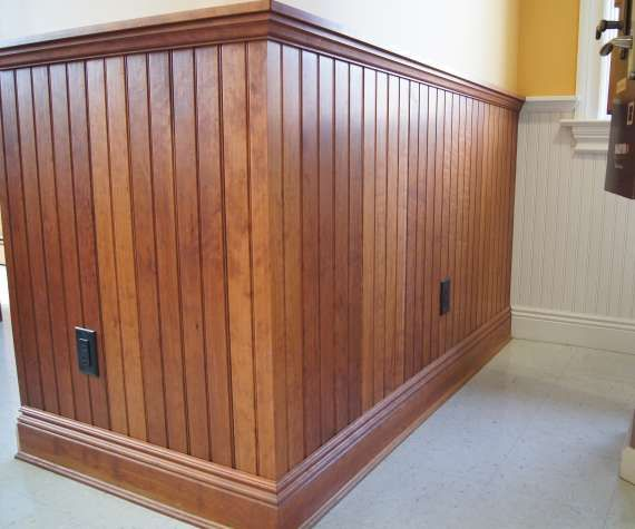 Wood Stain Vs Painted Wainscoting Walls Pinterest