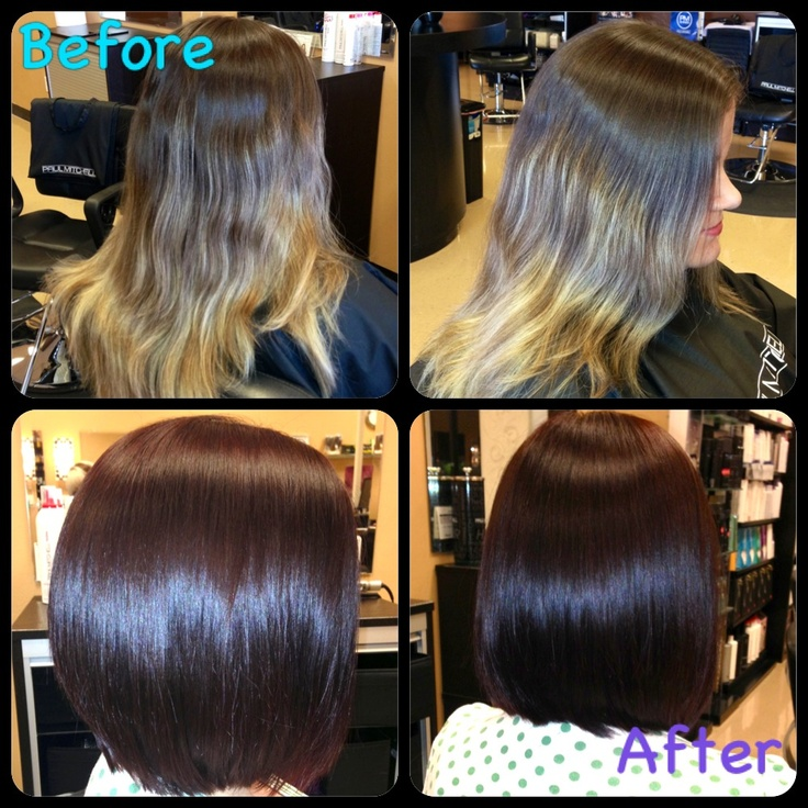 Before And After Stacked Long Bob Things Ive Done