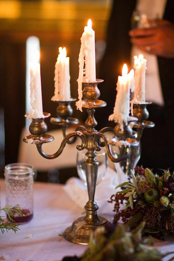 Love The Melted Wax On The Silver Candlestick I Have The