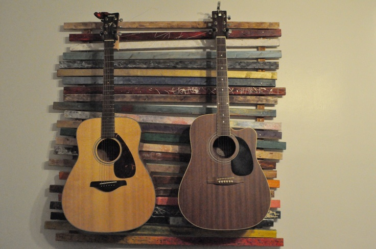 wall mount dual guitar stand by xavishop on etsy 420 00 on wall hanger id=99003