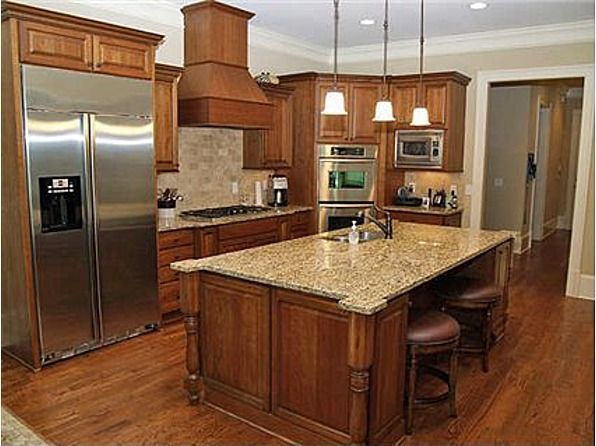 41 best images about Kitchen Cabinets on Pinterest | Grey ... on What Color Countertops Go With Maple Cabinets  id=42439