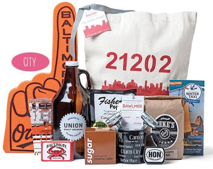 Baltimore City Wedding Gift Basket/ Gift Bag Ideas