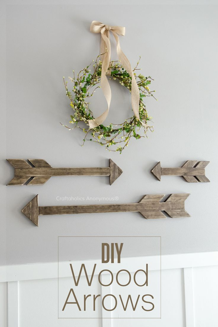 I love arrows! Learn how to make your own DIY Wood arrows with this easy tutorial!