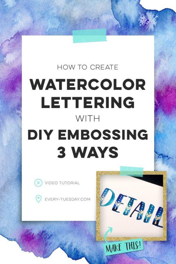 25+ Best Ideas about Watercolor Lettering on Pinterest ...