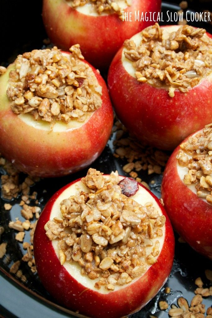 Slow Cooker Baked Apples – The Magical Slow Cooker