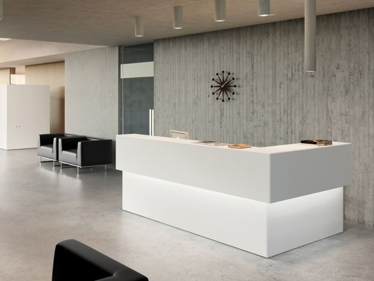 Modern Office Reception Area Design Ideas With Recessed