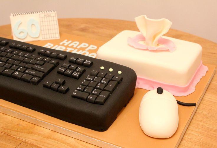 Computer Keyboard Cake By Fondant Fancy Cake Pinterest
