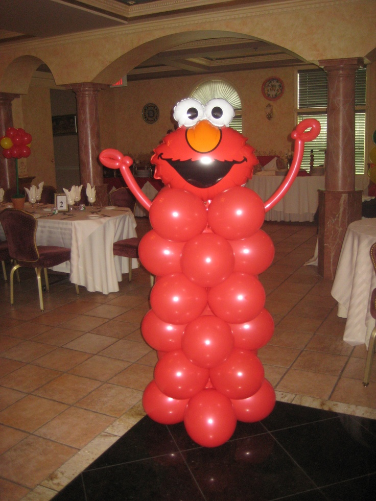 Elmo Balloon Column By Www Total Party Com First