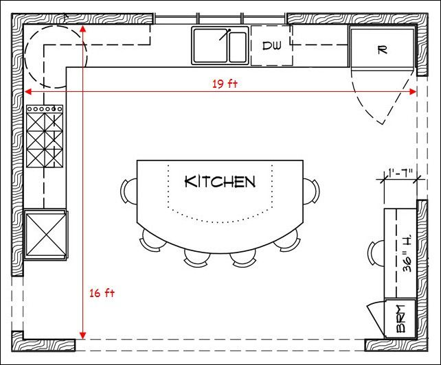 17 Best Ideas About Kitchen Floor Plans On Pinterest