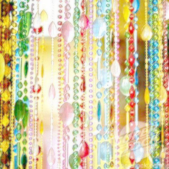 LOt Of 40 Strands 1960 S Hippie Doorway Beads Vintage Beads Boho Decor Hippie Decor Colorful