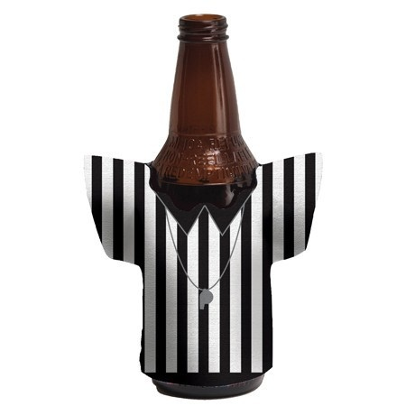 Referee Shirt Shaped Bottle Koozie 225 Football Party
